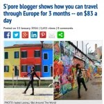 STOMP - S'pore blogger shows how you can travel through Europe for 3 months -- on $83 a day