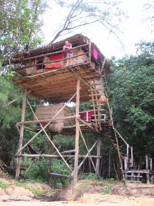 Koh Rong Treehouse Bungalow, Cambodia, Where to stay in koh rong