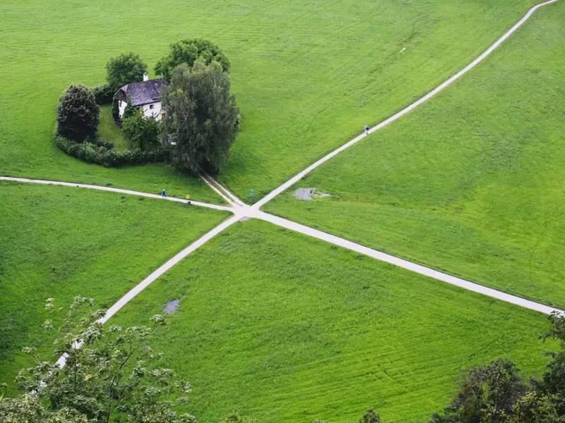 salzburg austria sound of music tour grass fields house walking nature