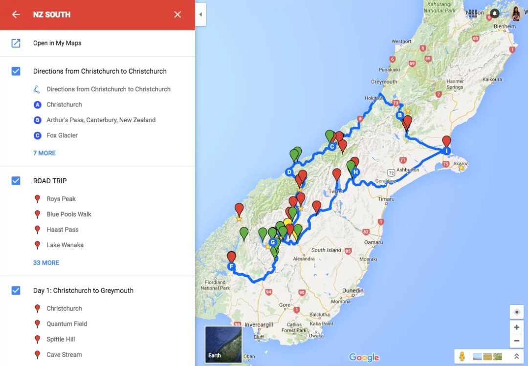 New Zealand Map Google.Driving In New Zealand The First Time Bel Around The World