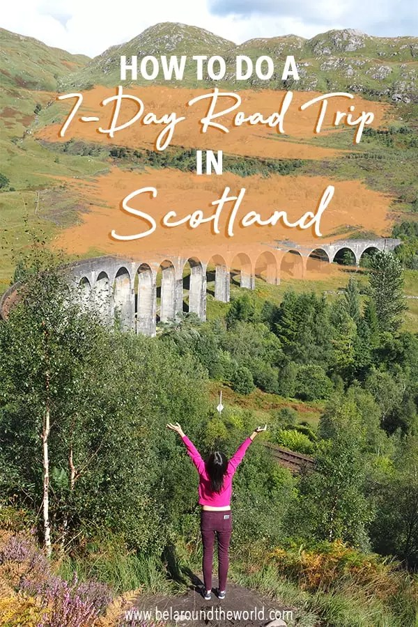How to do a Scotland road trip itinerary in 7 to 10 days - attractions to see in Edinburgh, Glasgow, the Highlands + affordable accommodation. See it here!