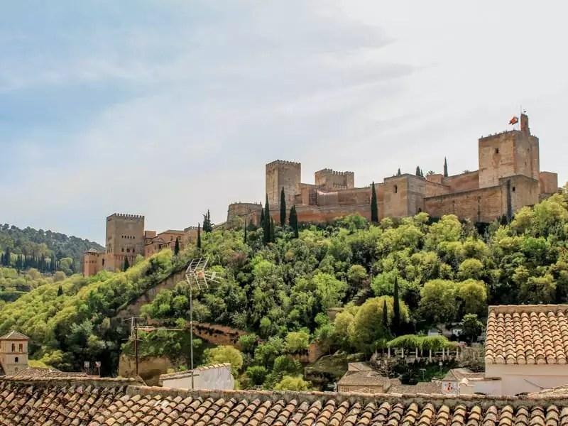Albaycin Albayzin View of Alhambra Sunset Sunrise Granada Spain Europe History Old Town