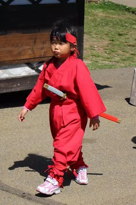Noboribetsu Date Jidaimura (Ninja Village) cute ninja children