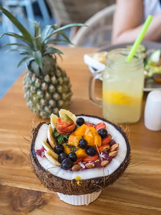 cafe organic acai bowl pineapple - 15 Must-Visit Destinations In Bali