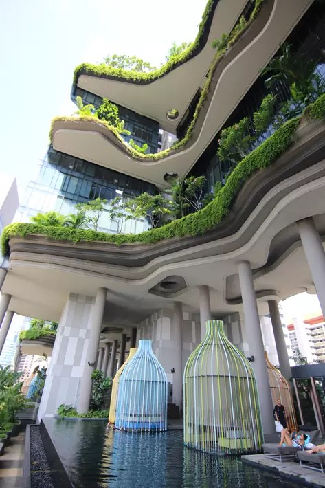 PARKROYAL on Pickering vertical-greenery-colourful-cabana