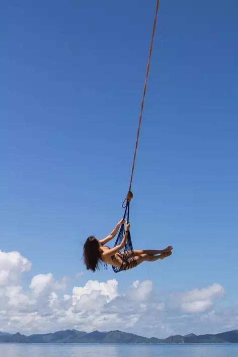 el nido palawan girl swing beach sky seven commandos beach