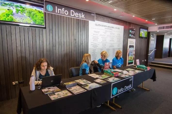 Air New Zealand Queenstown International Marathon info desk