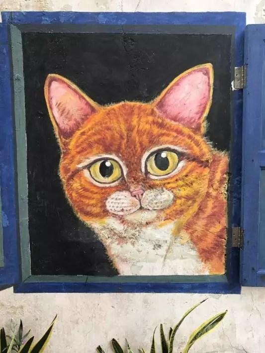 penang street art, Cat street art - Enchanted Vagabond