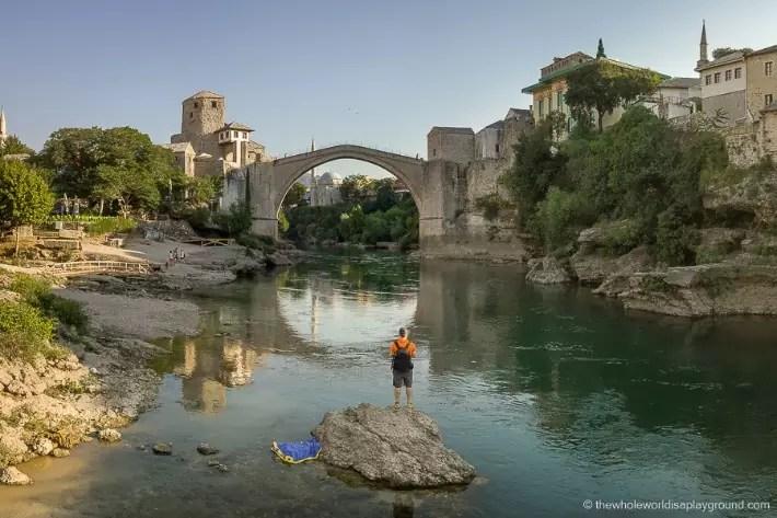 Mostar Bosnia- The Stari Most Bridge - showthemtheglobe; Best drones for travel