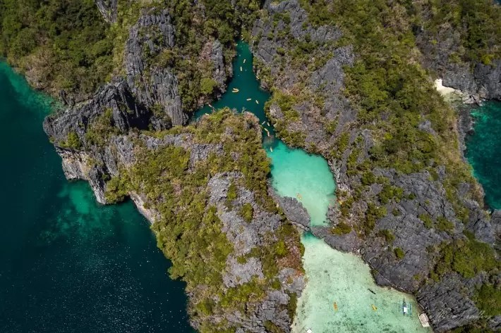 el-nido-lagoons; Best drones for travel, where to stay in el nido, el nido palawan hotels, el nido palawan resorts, best place to stay in el nido