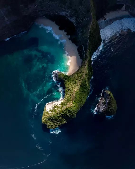 Kelingking Beach in Nusa Penida, Indonesia-officertravels.com; Best drones for travel