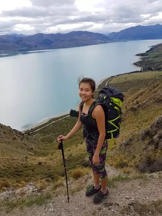 breast hill hiking girl, new zealand