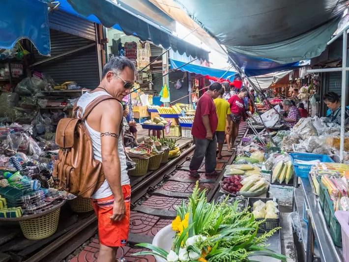visit maeklong railway market, Day trips from Bangkok -Amphawa Floating Market, Maeklong Railway Market, Ban Bang Phlap