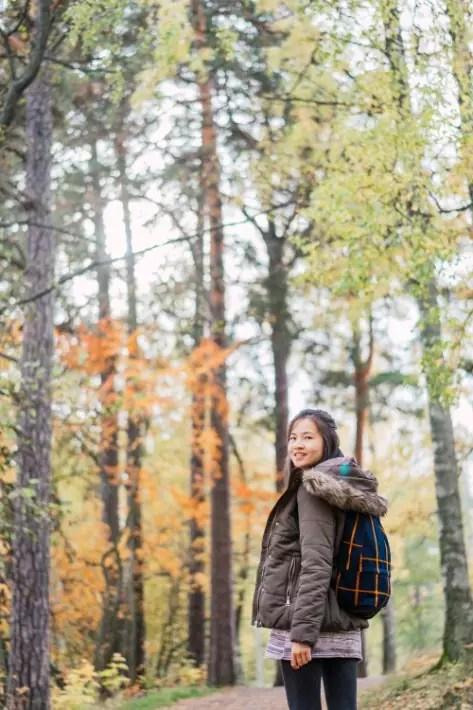 girl walk woods, Seurasaari Open-Air Museum, Helsinki, Finland