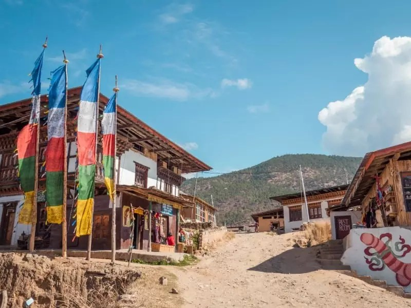 Village of Chimi Lhakhang Phallus Bhutan