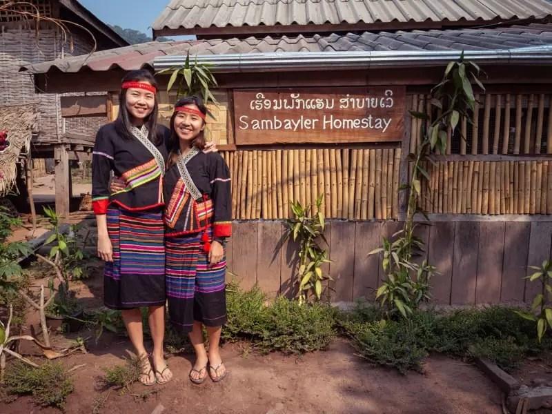 traditional Khmu costume, trekking-Luang-Namtha-Laos-Homestay-Nam-Ha