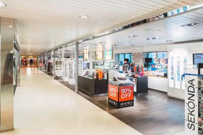 Tallink Silja ferry shopping, tallinn, estonia