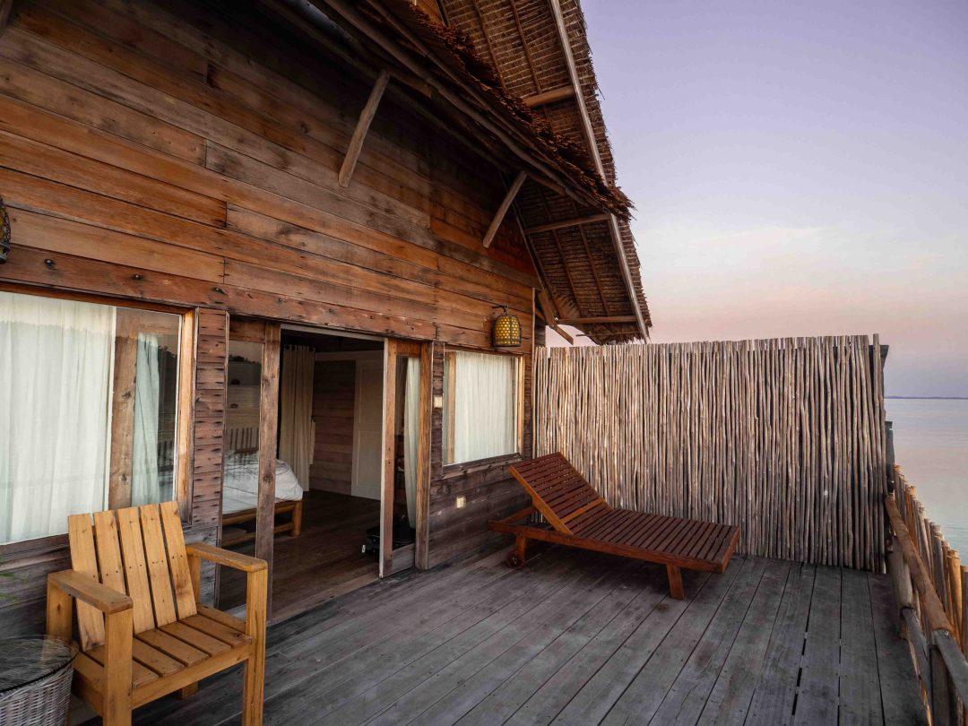 balcony deck, Telunas Private Island Batam Indonesia, Hotel Review