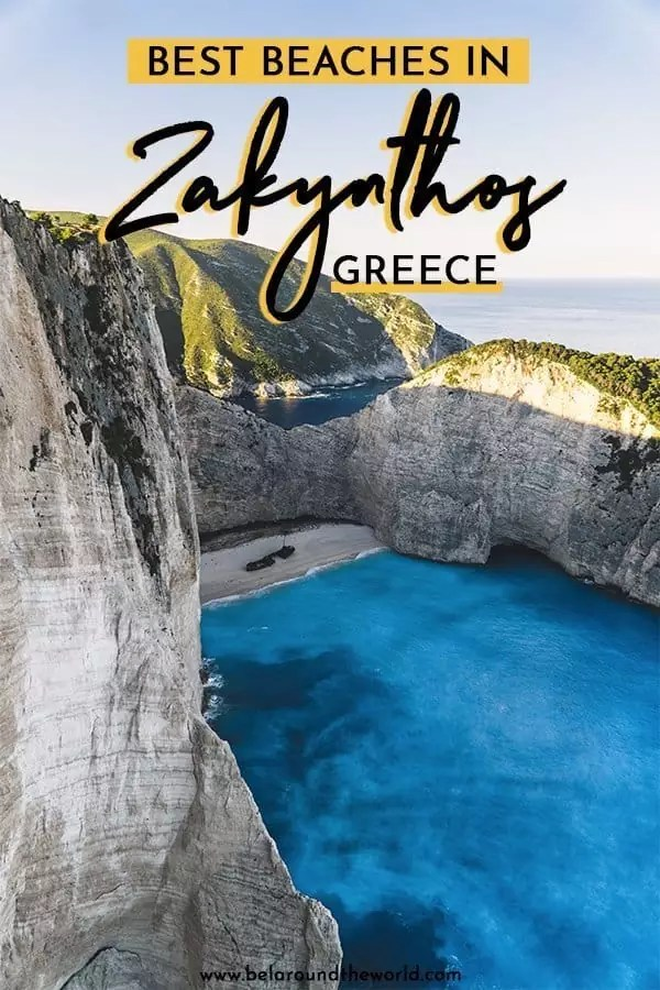 Where to find the best beaches in Zakynthos, Greece, including where to stay, weather in Zakynthos and other helpful tips on getting around the island! #greekislands #greek #greece #island