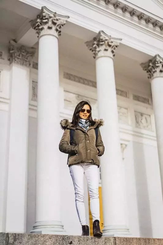 girl, Senate Square 1, helsinki finland points of interest, what to do in helsinki finland