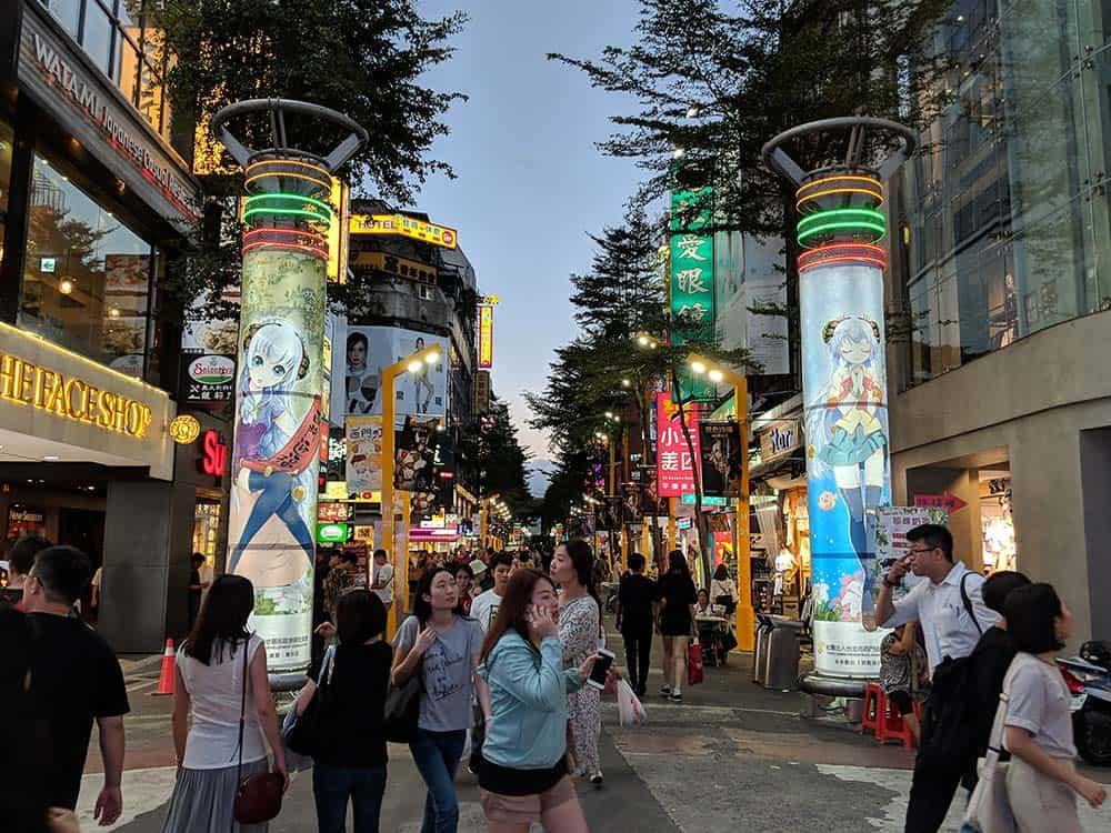 Ximending-district-in-Taipei, things to eat in taipei taiwan