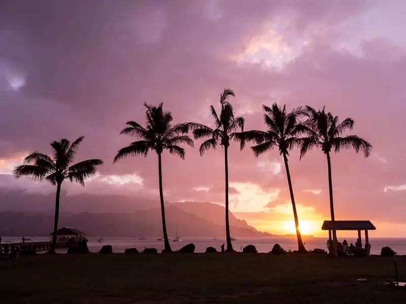 Hanalei-Bay-sunset-Kauai-Hawaii