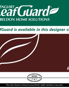 Gutter color options also beldon leafguard rh