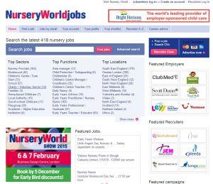 Nursery World Jobs