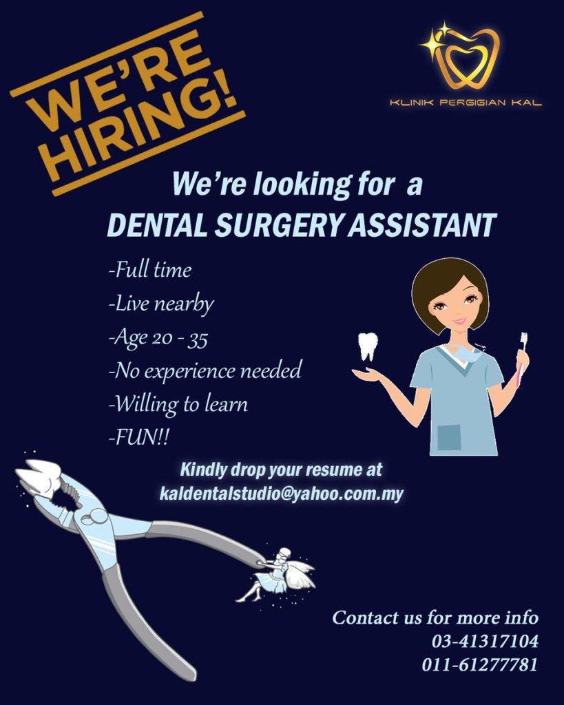 Modelo anuncio oferta empleo clínica dental