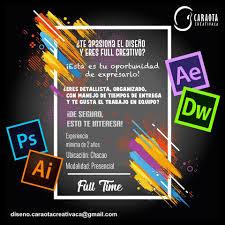 Modelo anuncio oferta empleo para diseñador gráfico