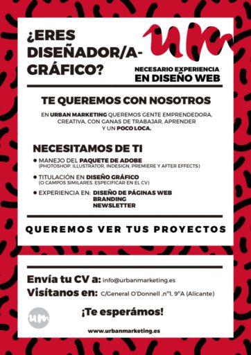 Modelo anuncio oferta empleo Urban Marketing