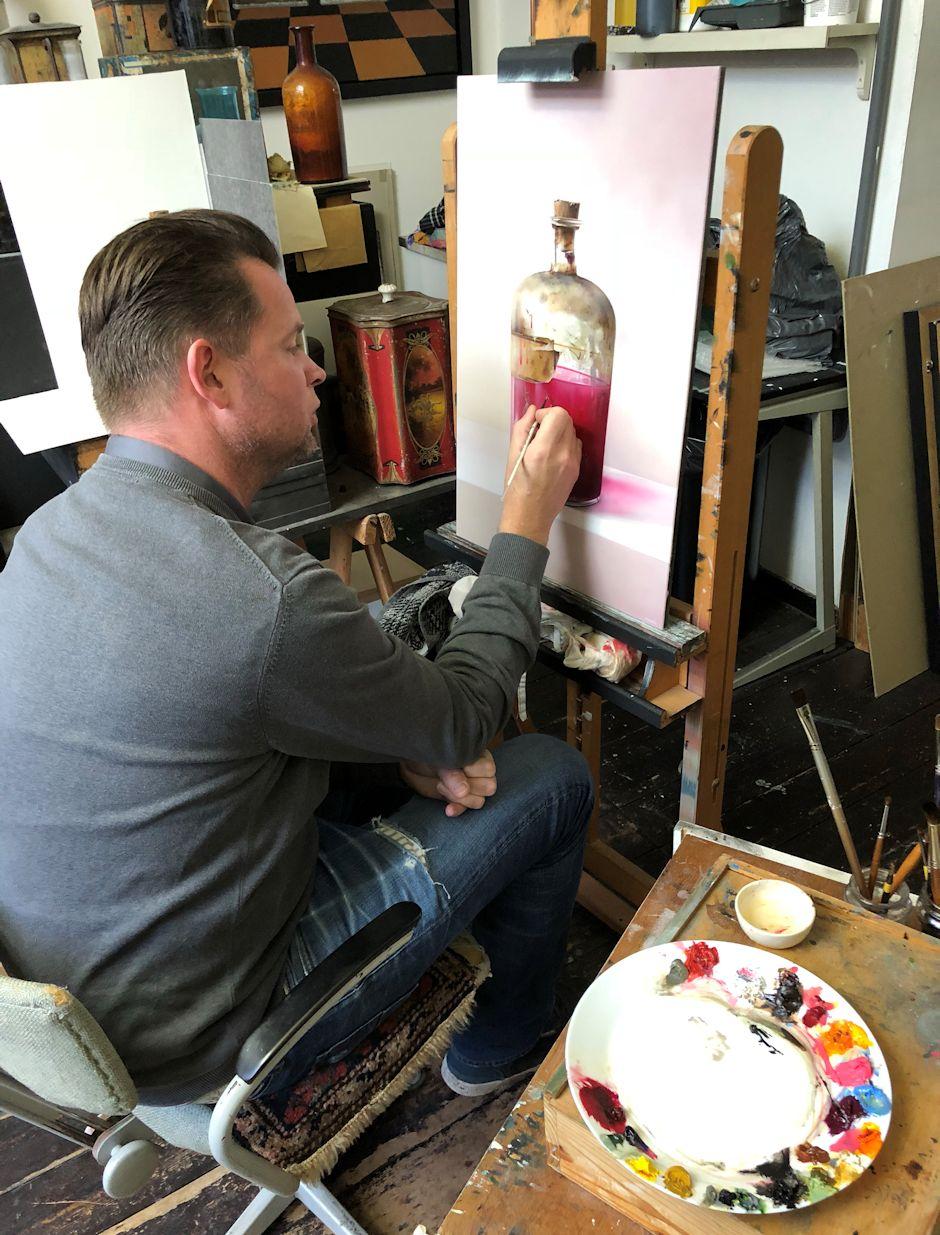 Interview met kunstschilder Robert Daalmeijer | aan het werk in galerie De Duig in Vlaardingen | beleveninvlaardingen.nl