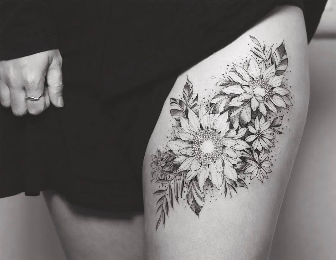 Tatuagens Femininas Na Coxa Tattoos Ideas