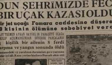 Bursa'ya uçak düştü