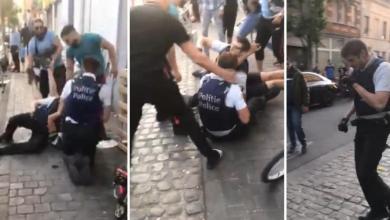 صورة تم اعتقال شخصين في قضية الاعتداء على ضباط الشرطة