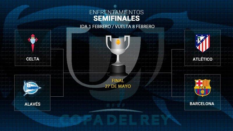 عاجل: قمة نارية بين اتلتيكو مدريد وبرشلونة في نصف نهائي كأس ملك إسبانيا