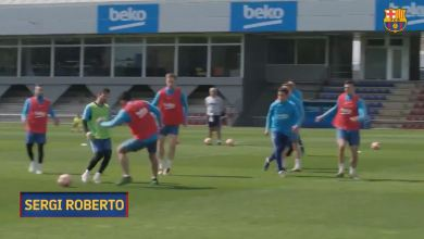 Photo of شاهد أجمل أهداف الشهر الماضي في تدريبات برشلونة