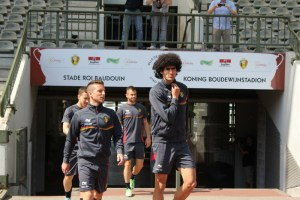 Fellaini enters the arena (copyright John Chapman)