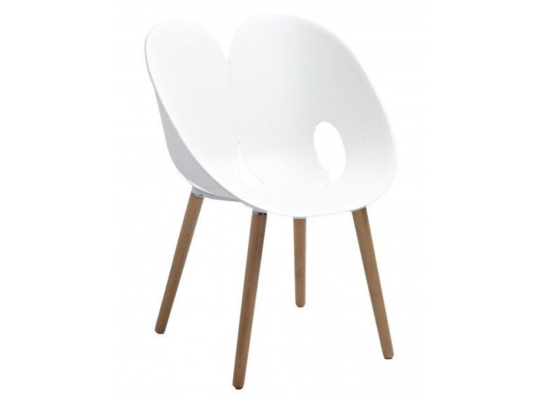 chaise design blanche nadege
