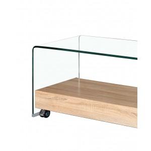 meuble tv en verre transparent glass