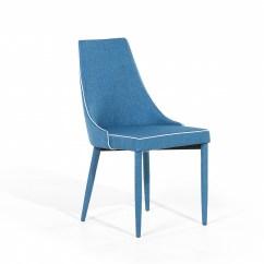 Armless Chair Uk Best High For Babies Dining Tulip Upholstered Dark Blue Ebay