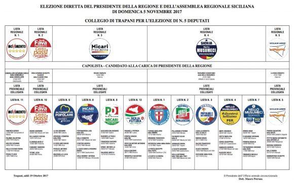 Elezioni Regionali. Il manifesto per il collegio di Trapani