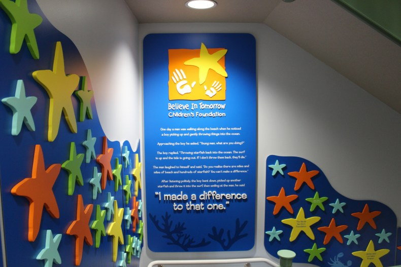 believe in tomorrow Donor Recognition Wall