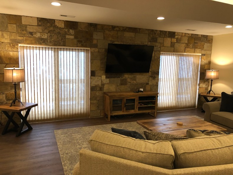 The Believe In Tomorrow House at Deep Creek Lake basement