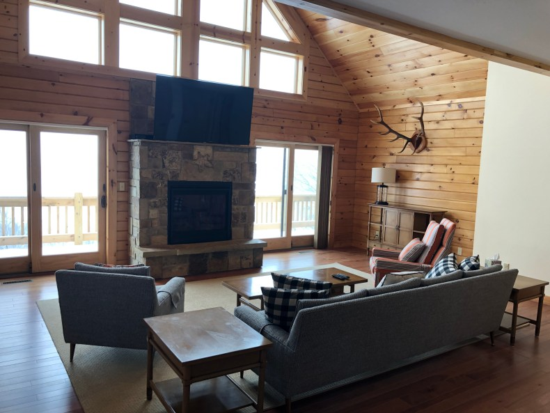 The Believe In Tomorrow House at Deep Creek Lake fireplace