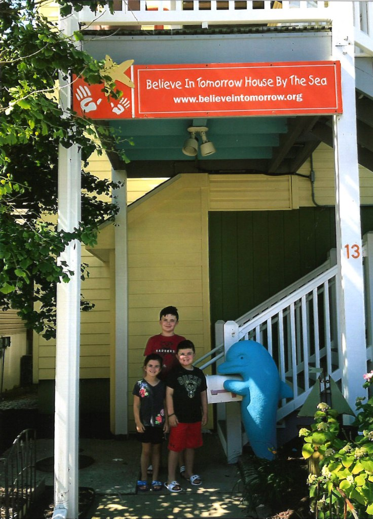 Believe In Tomorrow family at the Children's House By The Sea, read their story