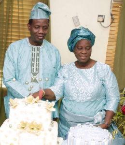 Pst. & Pst. (Mrs.) Adeboye on one of her birthdays