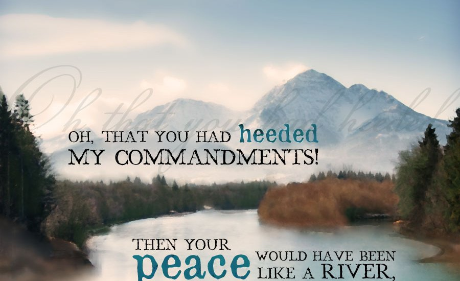 Image result for Then had thy peace been like a river