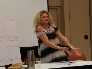 Alexandra Sokoloff in teaching mode