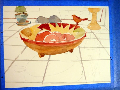 using-a-grid-to-paint-watercolor